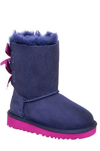 UGG K Bailey Bow Lederstiefel, Blau - Peacoat - Größe: 10 M US Child