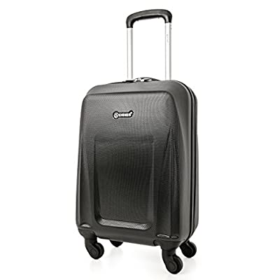 5 Cities Lightweight ABS Hard Shell Carry On Cabin Hand Luggage Suitcase with 4 Wheels, Approved for Ryanair, easyJet, British Airways, Virgin Atlantic and More - hand-luggage