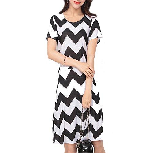 Vincenza Damen Etui Kleid weiß weiß 38 Chevron