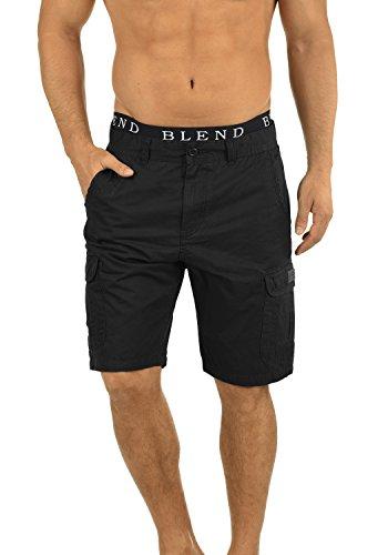 BLEND 20702259ME Crixus Cargo Shorts, Größe:S;Farbe:Black (70155)
