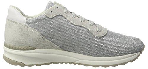 Geox Damen D Airell B Sneaker Grau (lt Grigio / Off Whitec0742)