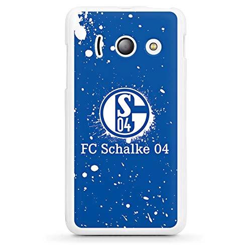 DeinDesign Silikon Hülle kompatibel mit Huawei Ascend Y300 Case Schutzhülle S04 Offizielles Lizenzprodukt FC Schalke 04