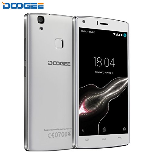 Telefonos Celulares, DOOGEE X5 MAX PRO Movile Libre, 5 Pantalla, 4G LTE, 2GB RAM+16GN ROM, 4000mAh Super Batería, Huella Dactilar Smartphone (Garantía) - Blanco