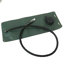 Generic 3L Outdoor TPU Hydration Bladder Bag - Olive Bag Black Tube