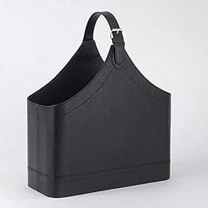 Zeitschriftenständer Leder schwarz Design