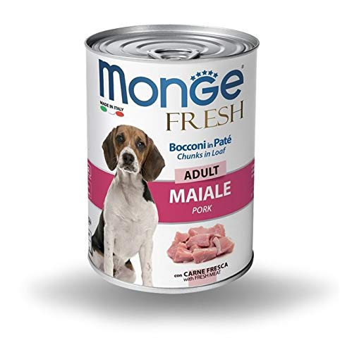 Monge Fresh Adult Bocconi in Pate Maiale 400 gr 1 Lattina
