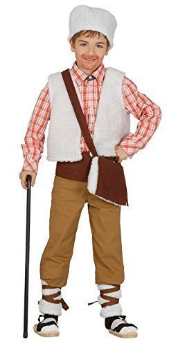 Shepherd Kleid Kostüm - Jungen Luxus Shepherd Weihnachten Krippenspiel Festive Kostüm Kleid Outfit 3-12 Jahre - 5-6 Years