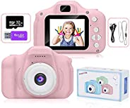 AMERTEER Kids Toy Digital Camera with [ 32 GB Memory Card and Card Reader ] Gifts for Child Boys Girls,Mini Re
