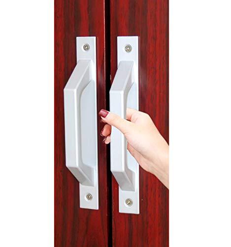 Aluminiumlegierung Push und Pull Türgriff Oberfläche Glas Kunststoff Stahl Balkon Küche Tür Fenster Griff (Scheune-tür, Edelstahl-hardware)