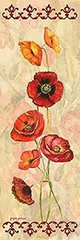 Gregory Gorham – Scarlet Poppies I Kunstdruck (30,48 x 91,44 cm)