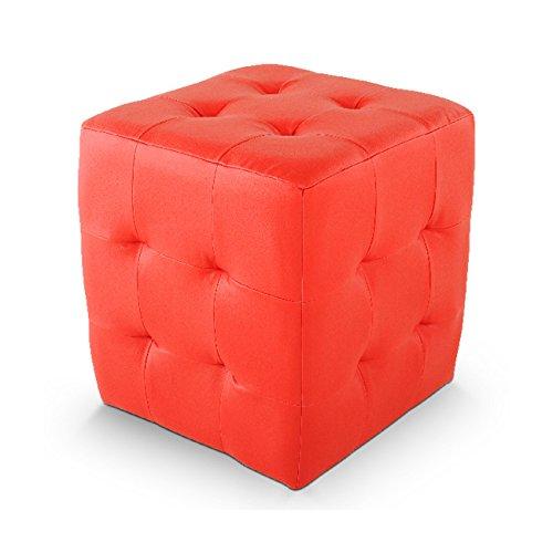 SAM® Sitzwürfel, Sitzhocker Ayaka in rot, 40 x 40 x 40 cm, mit SAMOLUX® bezogen, abgestepptes Design, quadratischer Hocker mit hohem Sitzkomfort dank angenehmer Polsterung