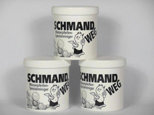 Schmand Weg Glas Reiniger 3 Dosen je 150 Größe - Wasserpfeifen Spezialreiniger - 450Gr