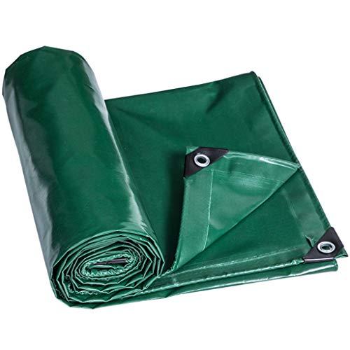 Lona con Ojales Resistente al Agua Resistente para calzadas Piscina de malezas de tobogán acuático para Acampar - Hoja de Lona Verde - Cubierta de Lonas Hecho de 200 Gramos/Metro Cuadrado
