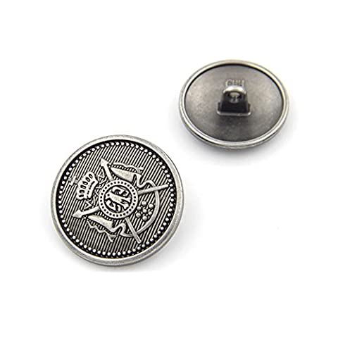 Shank Metal Buttons Suit Coat Sewing 18mm 20mm 25mm ,Pack of 10