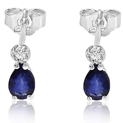 Orecchini Donna Oro e Diamanti in Oro Bianco 9Kt 375 Diamanti 0.03Carati-zaffiro blu 1Carati Clicca su MILLE AMORI blu e scopri tutte le nostre collezioni