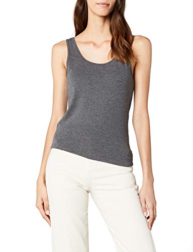 ONLY Damen Tank Top Top Onllive Love Long Tank Top Noos-15060061 - Grau (Dark Grey Melange) , 38 (Herstellergröße:M)