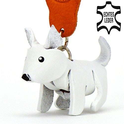West Highland Terrier Westie–Pequeños Perros de llaves colgante de piel, una idea de regalo para mujeres y hombres en Perros de accesorios bajo Cuello banda