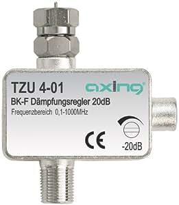 Axing TZU 4-01 atténuateur pour câble tv CATV avec connecteur F (0,5-20 dB)