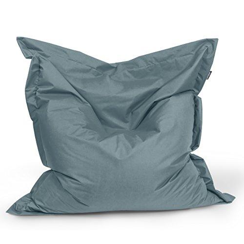 Sitzsack Rechteck BuBiBag Größe 180x145 cm (anthrazit)