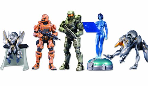 Halo 4: 5-Pack w/ Exclusive Orange Spartan Soldier Action Figur Set (Halo-orange-action-figuren)
