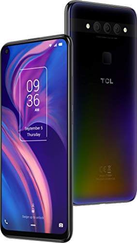 TCL PLEX - Smartphone de 6.53' (Octacore Snapdragon 675, RAM de 6GB, memoria interna de 128GB, ampliable micro SD, triple cámara trasera 48MP + 16MP + 2MP, cámara frontal 24MP) color negro