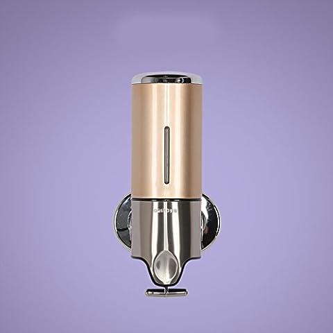 Ali Wall - Montado Individual - Cabeza del dispensador del jabón de la mano - Botellas de líquido de lavado de baño del hotel Cajas ( Color : Tuhao Gold )