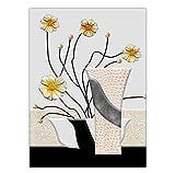 Knncch Dekoration Wandkunst Poster Schlafzimmer Dekor Gemälde Öl Zeichnungen Für Wohnzimmer Blumenstrauß In Einer Vase,40X50Cm