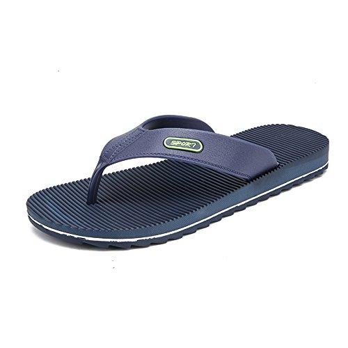HUANGLINGLING Casual Suede Shoe Männer Flip-Flops Casual Wind New Stripes Anti-Rutsch-Verschleiß-resistent Outdoor-Strand-Sandalen Herren Sneaker (Color : Blau, Größe : 40 EU) - Stripe Espadrille-sandale