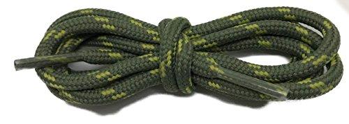 McLaces Bergschuhsenkel waterproof, wasserabweisende Schnürsenkel, Wanderschuhe Outdoor (180 cm, oliv - 5% lindgrün)