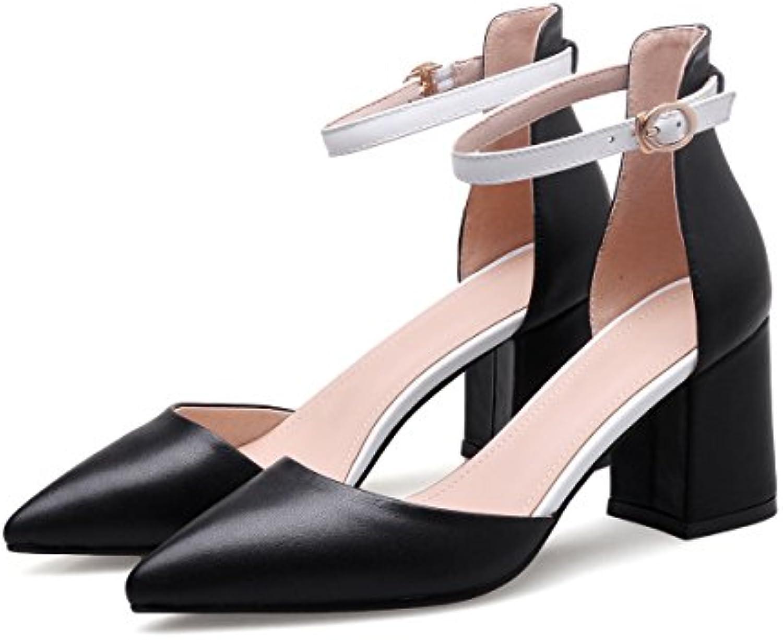 KPHY-Zapatos Mujer/Women Shoes/Verano/La Primavera Y El Verano Un Viento De La Alta Sociedad Una Hebilla con Gruesas...