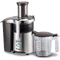 Moulinex JU610D10 Centrifugeuse Easy Fruit Appareil Extracteur de Jus Fruits ou Légumes 2 Vitesses Capacité 2L 800W Métal