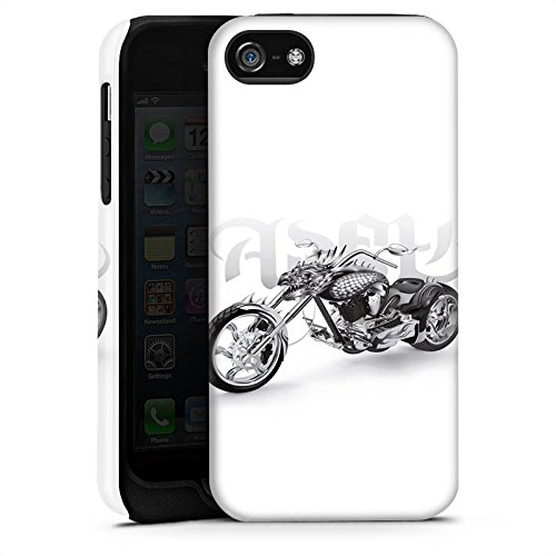 Apple iPhone X Silikon Hülle Case Schutzhülle Motorrad tribal harley Tough Case matt
