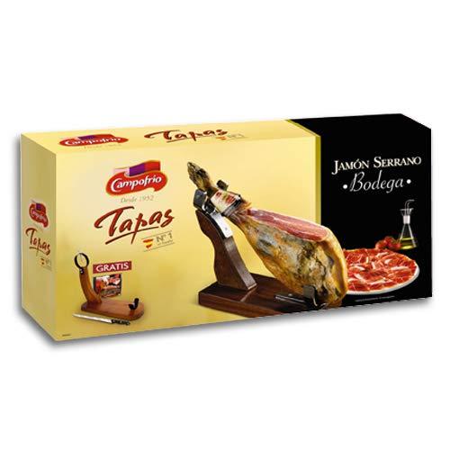 Fiorucci jamon serrano bodega con osso in confezione regalo con morsa e coltello in omaggio - 7.25 kg