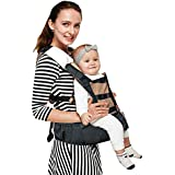 LuvLap Royal Baby Hip Seat Carrier with 4 Carry Positions, for 6 to 36 Months, Max Weight Up to 15 Kgs (Black)