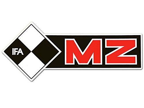 Schriftzug (Folie) IFA MZ linke Seite* schwarz-rot-weiss (weißer Rand)