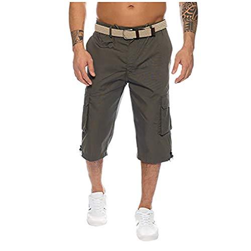 Dasongff Herren Cargo Jogging Pants mit Vielen Taschen Loose Sporthose Chino Hose Fit Joggingshorts Kurz Streetwear Arbeitshose Jagdhose Cargohose in verschiedenen Farben -