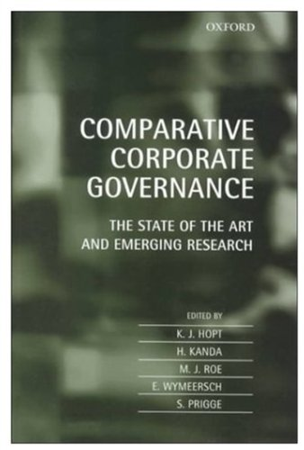 Comparative Corporate Goverance: The State of the Art and Emerging Research PDF Books