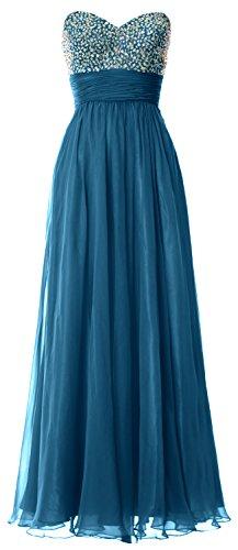 MACloth - Robe - Trapèze - Sans Manche - Femme bleu sarcelle