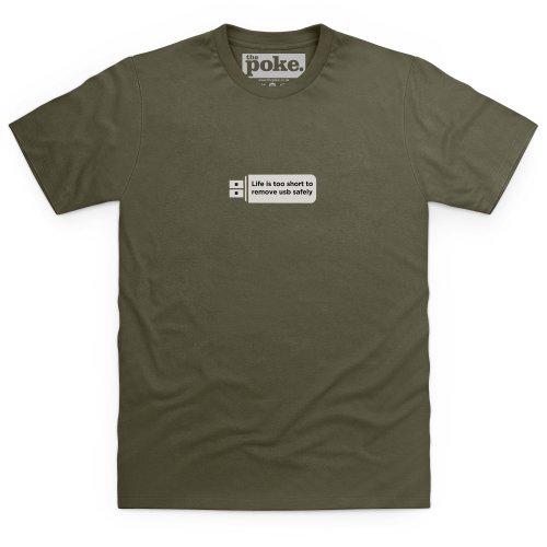 Life's Too Short T-Shirt, Herren Olivgrn