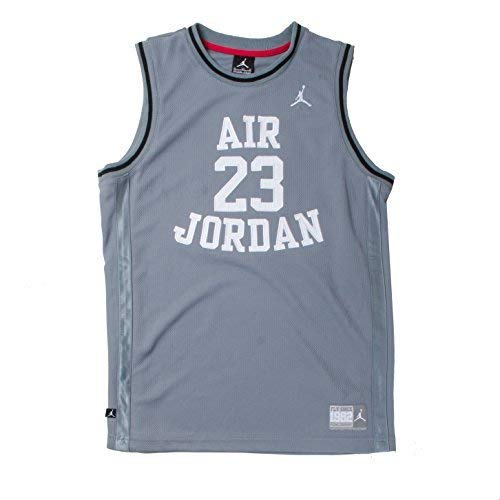 Nike Jordan Boys Youth Classic Mesh Jersey Shirt (Grey, XL(13-15YRS)) - Jordan Mesh-kleid