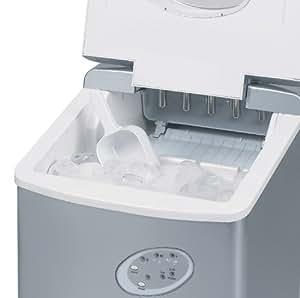 Fabbricatore di Ghiaccio - Fabbricatore di Ghiaccio con piano di lavoro - Non necessita di impianto idraulico - Nuovo Modello Compatto - 15 kg di ghiaccio in 24 Ore