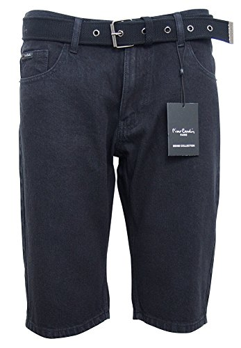 Pierre Cardin Mens New Season Denim Knee Length Shorts with Canvas Woven Belt