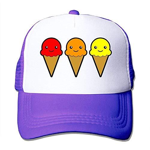 Preisvergleich Produktbild Ice-Cream Cartoon Mesh Trucker Caps / Hats Adjustable for Unisex Black