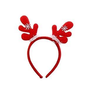 BESTOYARD Weihnachten Haarband Schöne Haarband Cartoon Headwear Party Supplies Weihnachten Dekor Foto Requisiten Geschenk (Hairy Antler)