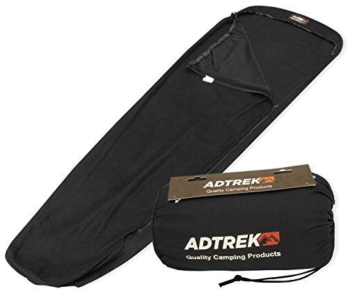 Adtrek - Drap de sac en microfibres polaires - pour sac de couchage style « momie »/« sarcophage » - pour le camping