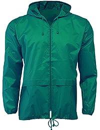 Lightweight Unisex Cagoule Kagool: M, Green