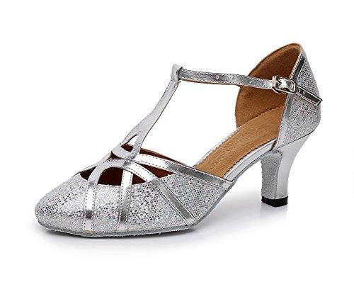 Minitoo , Damen Tanzschuhe, Silber – silber – Größe: 37.5 - 3