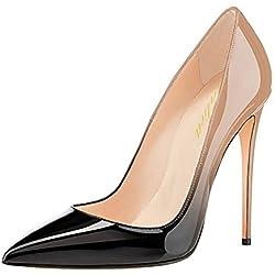 Lutalica - Zapatos de Vestir de Charol para Mujer, Color, Talla 43 EU