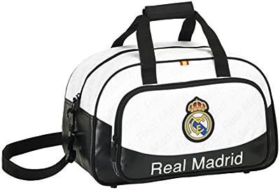 Safta 047120 Real Madrid Bolsa Deporte, Color Blanco