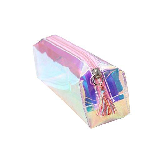 Frcolor Gland sac à crayons sac de maquillage pour les femmes (rose)